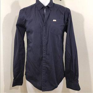 Scotch & Soda Navy Blue Dress Shirt Size Large